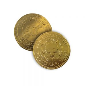 80mm Gold Chocolate Coin Medalllion | Bite My Brand