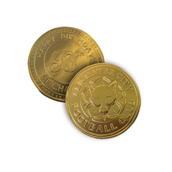 80mm Gold Chocolate Coin Medalllion | Bite My Brand